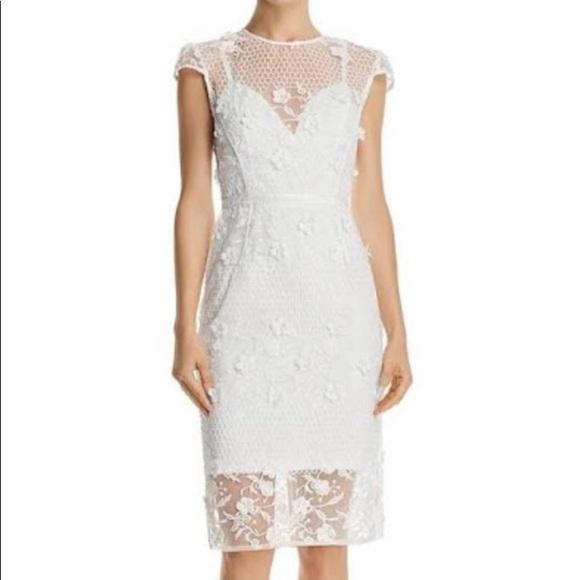 Bronx and Banco Dresses & Skirts - Bronx and Banco Osa Embroidered Cap Sleeve Organza